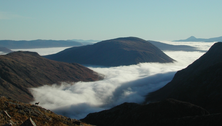 18 Oct temperature inversion from Aonach Dubh with doe b