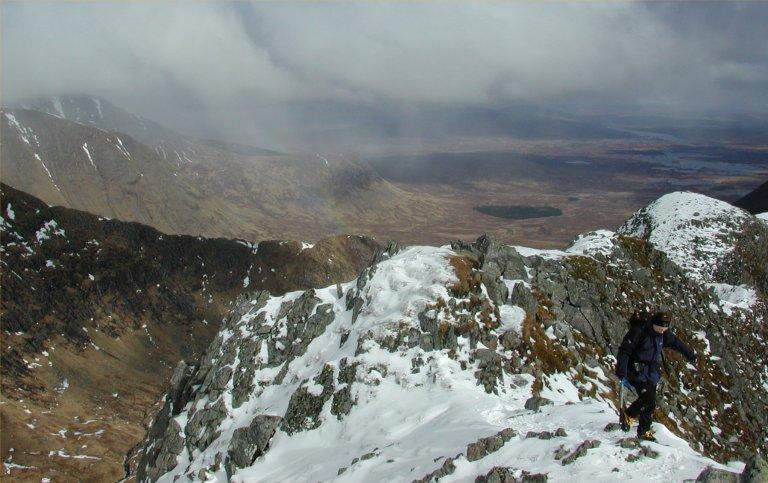 07 Mar H on ridge rainbow and moor back a