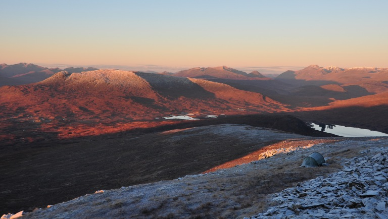 07 Nov Carn Dearg summit early light Nallo and Ben Nevis b b