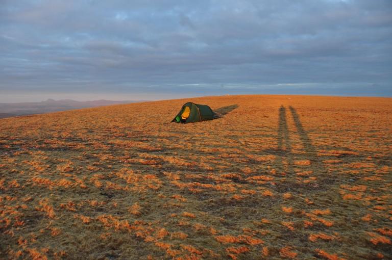 19 May Ben Armine summit camp sunset Nallo d