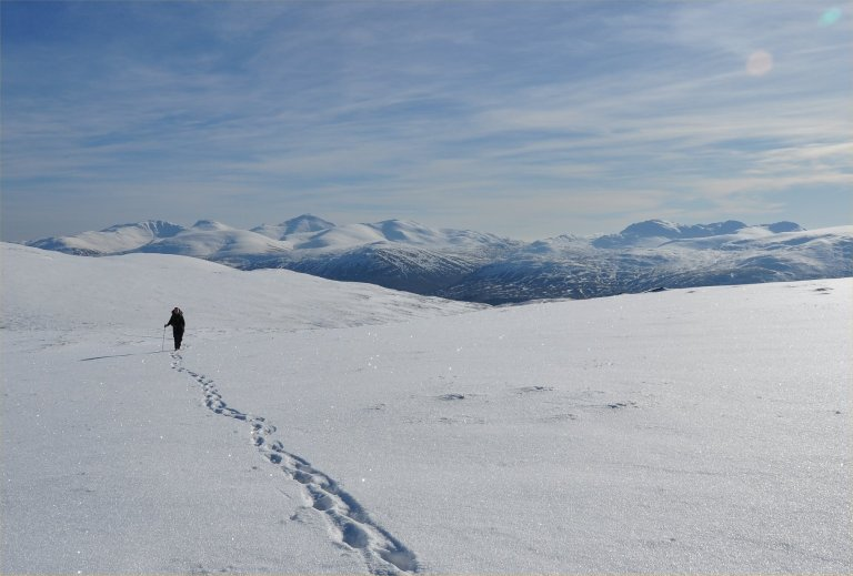 20 Feb H on Meall Buidhe climb e
