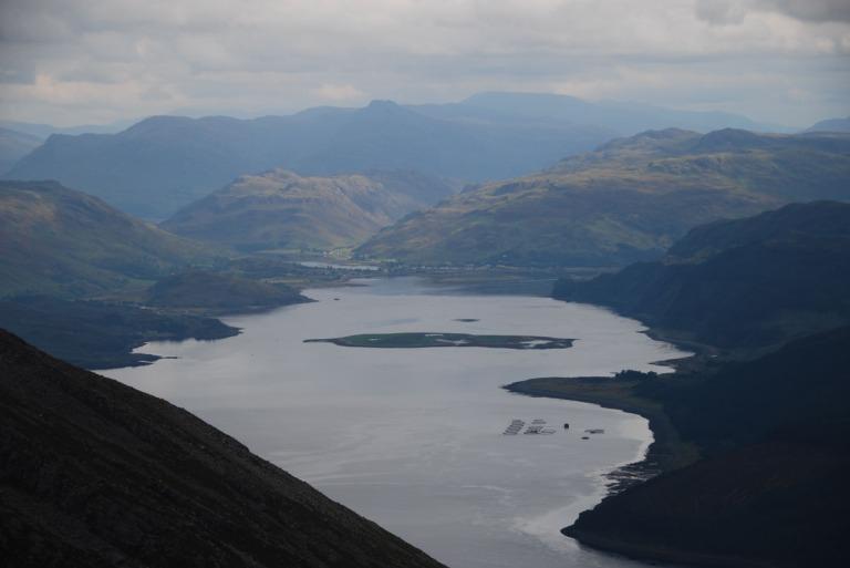 30 Aug Loch Alsh from Sgurr na Coinnich summit c